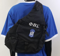 Phi Beta Sigma Fraternity Sling Shoulder Bag Backpack- Black