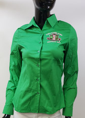 Alpha Kappa Alpha AKA Sorority Button Down Collar Shirt-Green