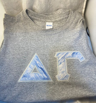 Ready to Ship- Delta Gamma Sorority Double Stitched Letter Shirt – Frozen