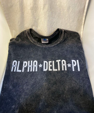 Alpha Delta Pi ADPI Sorority Mineral Wash Shirt