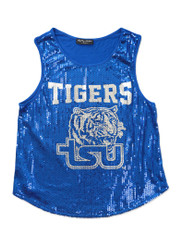 Tennessee State University Sequin Tank Top-Mascot