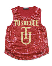 Tuskegee University Sequin Tank Top-Mascot