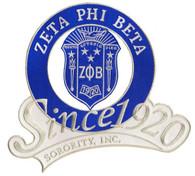 Zeta Phi Beta Sorority Since 1920 Emblem