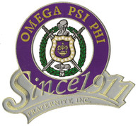 Omega Psi Phi Fraternity Since 1911 Emblem