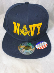 Mason Masonic Navy Hat with Symbol-Navy