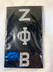 Zeta Phi Beta Sorority Graduation Kente Stole-Black