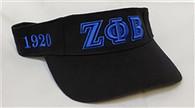 Zeta Phi Beta Sorority Visor- Black