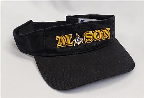 Mason Masonic Visor-Black