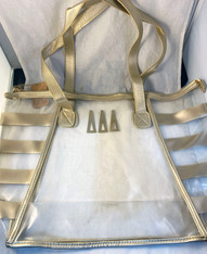 Delta Delta Delta Tri-Delta Sorority Clear Tote Bag