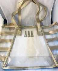 Delta Delta Delta Tri-Delta Sorority Clear Tote Bag