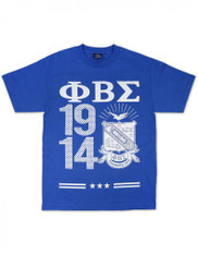 Phi Beta Sigma Fraternity Three Greek Letter with Founding Year Shirt