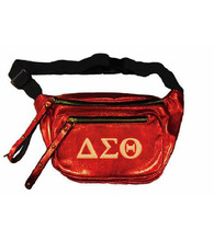 Delta Sigma Theta Sorority Embroidered Belt Bag/Fanny Pack