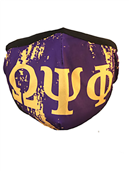 Omega Psi Phi Fraternity Face Mask- Purple- Style 2