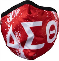 Delta Sigma Theta Sorority Face Mask- Crimson- Style 2