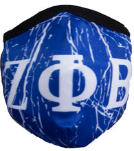 Zeta Phi Beta Sorority Face Mask- Blue- Style 2