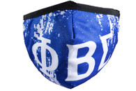 Phi Beta Sigma Fraternity Face Mask- Blue- Style 2