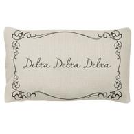 Delta Delta Delta Tri-Delta Sorority Decorative Pillow