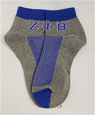 Zeta Phi Beta Sorority Footies- Gray/Blue