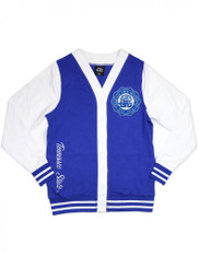 Tennessee State University Lightweight Cardigan-Style 3- White/Blue- Size Small