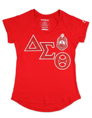Delta Sigma Theta Sorority V-Neck Shirt-Red