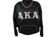 Alpha Kappa Alpha AKA Sorority Pullover Windbreaker-Black