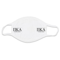 Pi Kappa Alpha PIKE Fraternity Face Mask- White