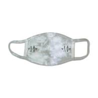 Alpha Phi Sorority Tie-Dye Face Mask-Gray