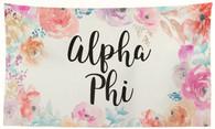 Alpha Phi Sorority Flag- Floral