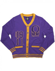 Omega Psi Phi Fraternity Lightweight Cardigan