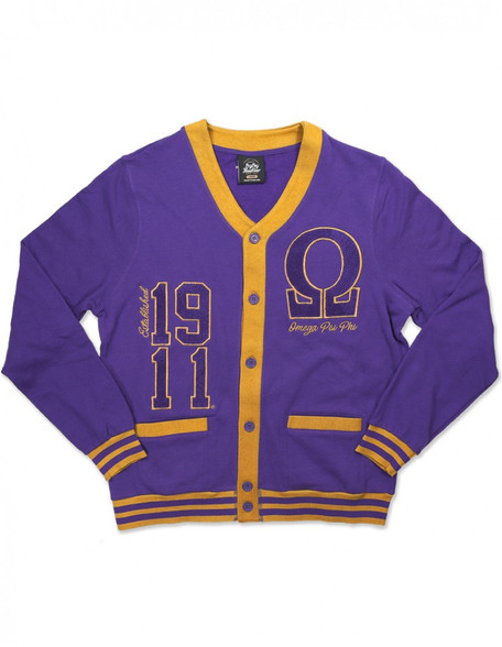 Omega Psi Phi Fraternity Lightweight Cardigan