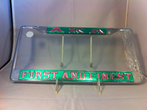 Alpha Kappa Alpha First And Finest Quot License Plate Frame