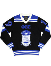 Phi Beta Sigma Fraternity Pull Over V-Neck Sweater-Front