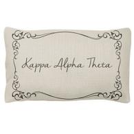 Kappa Alpha Theta Sorority Decorative Pillow