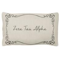 Zeta Tau Alpha ZTA Sorority Decorative Pillow