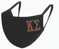 Kappa Sigma Fraternity Face Mask- Black
