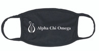 Alpha Chi Omega Sorority Face Mask-Organization Symbol- Black