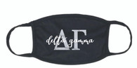 Delta Gamma Sorority Face Mask-Black