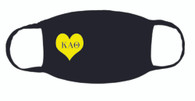 Kappa Alpha Theta Sorority Face Mask-Heart
