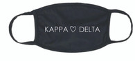 Kappa Delta Sorority Face Mask-Heart