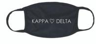 Kappa Delta Sorority Face Mask-Heart