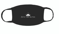 Zeta Tau Alpha ZTA Sorority Face Mask-Black