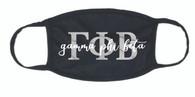 Gamma Phi Beta Sorority Face Mask-Black