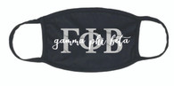 Gamma Phi Beta Sorority Face Mask-Black