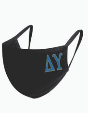 Delta Upsilon Fraternity Face Mask-Black