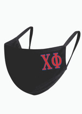 Chi Phi Fraternity Face Mask-Black