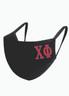Chi Phi Fraternity Face Mask-Black