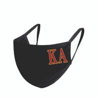 Kappa Alpha Fraternity Face Mask-Black