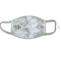 Alpha Epsilon Phi AEPHI Sorority Tie-Dye Face Mask-Gray