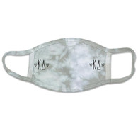 Kappa Delta Sorority Tie-Dye Face Mask-Gray