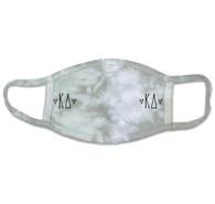 Kappa Delta Sorority Tie-Dye Face Mask-Gray